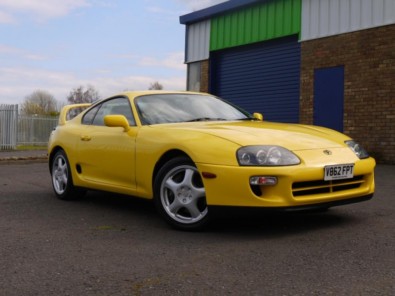 1999 Toyota Supra RZ VVTI 6 Speed Manual – Factory Rare Yellow