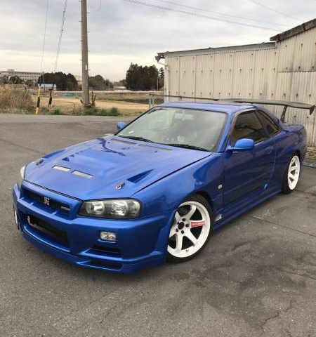 2000 Nissan Skyline R34 GT with RB26 Engine GTR looks 450PS